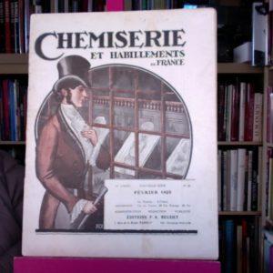 Chemiserie et Habillements de France – revue – Février 1925 – Editions F.A. Beudet –