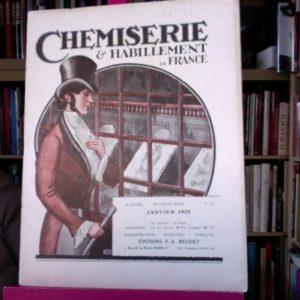 Chemiserie & Habillements de France – revue – Janvier 1925 – Editions F.A. Beudet –