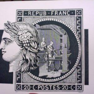 Le patrimoine du Timbre – Poste Français – Editions Flohic – + Une gravure