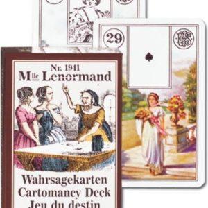 Cartes Melle Lenormand – Jeu du destin – 36 cartes – livret explicatif –