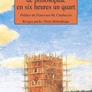 Cours de philosophie en six heures un quart – Witold Gombrowicz – Préface de Francesco M. Cataluccio – Rivages Poche/Petite bibliothèque –