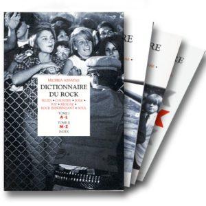Dictionnaire du Rock – Coffret 2 volumes + 1 index – Michka Assayas – Collection Bouquins – Robert Laffont Éditeur –