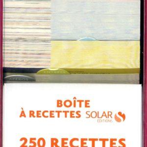 Boîte à recettes : 250 recettes testées et approuvées – Éditions Solar –