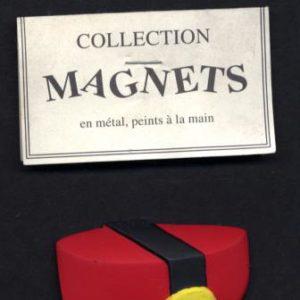 Chapeau de Spirou en métal peint à la main – Magnet – Pixi-Éditions –