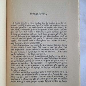 Une correspondance privée – Lawrence Durrell / Henry Miller – Éditions Buchet/ Chastel – 1963 –