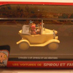 Les voitures de Spirou et Fantasio : Citroën 5 HP-Spirou et les héritiers – Modèle en métal – Échelle 1/43 – Éditions Atlas – 2006